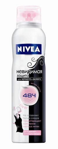 Дезодорант-антиперспирант Nivea   Невидимая защита для черного и белого Clear, 150мл