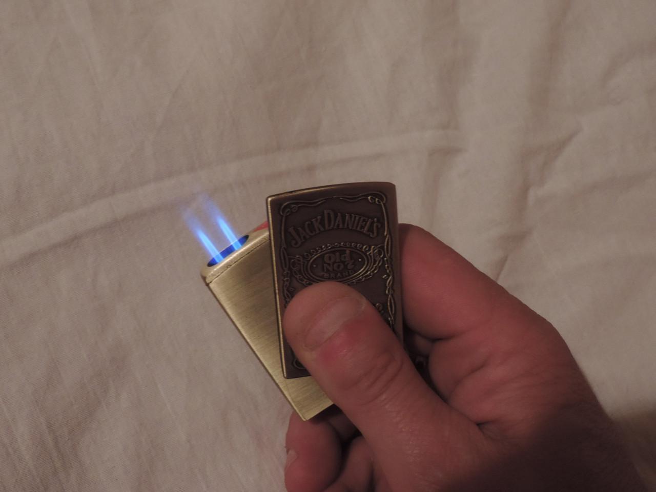 """Газовая зажигалка """"Zippo bi turbo"""" двойная турбоподача огня, копия"""