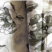 Комплект качественного постельного белья из бязи Gold, хлопок. Черно-белые цветы