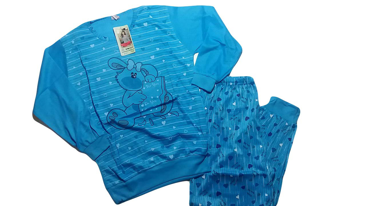 Пижама для девочек трикотажная, размеры 134-164, арт. 1140