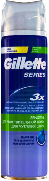 Гель для бритья Gillette Sens Skin с алоэ 200 мл