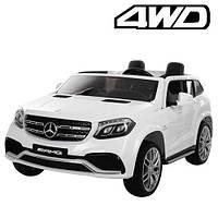 Детский электромобиль Mercedes M 3565 EBLR-1: 2xМеста, 4x45W, 12V 14A, EVA, кожа - БЕЛЫЙ - купить оптом