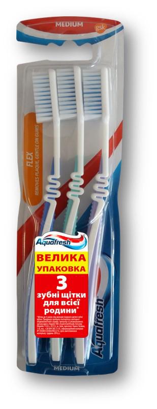Зубная щетка Aquafresh Flex Medium (3шт.)