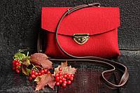 """Жіноча сумка з фетру """"Іndividual2"""" сумка ручної роботи від української майстерні PalMar, сумка с войлока, фото 1"""