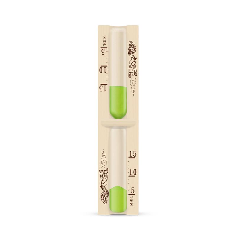 Годинник пісочний для сауни тип.1 ІСП 1 ( зелений пісок)