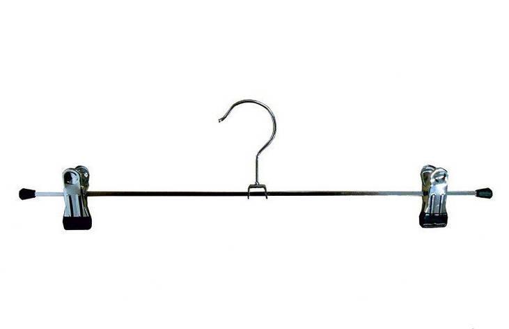 Плечики вешалка хромированная с прищепкой 35 см, фото 2