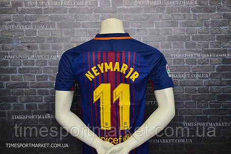 Футбольная форма Барселона домашняя Неймар 2017-2018 (Реплика), фото 2