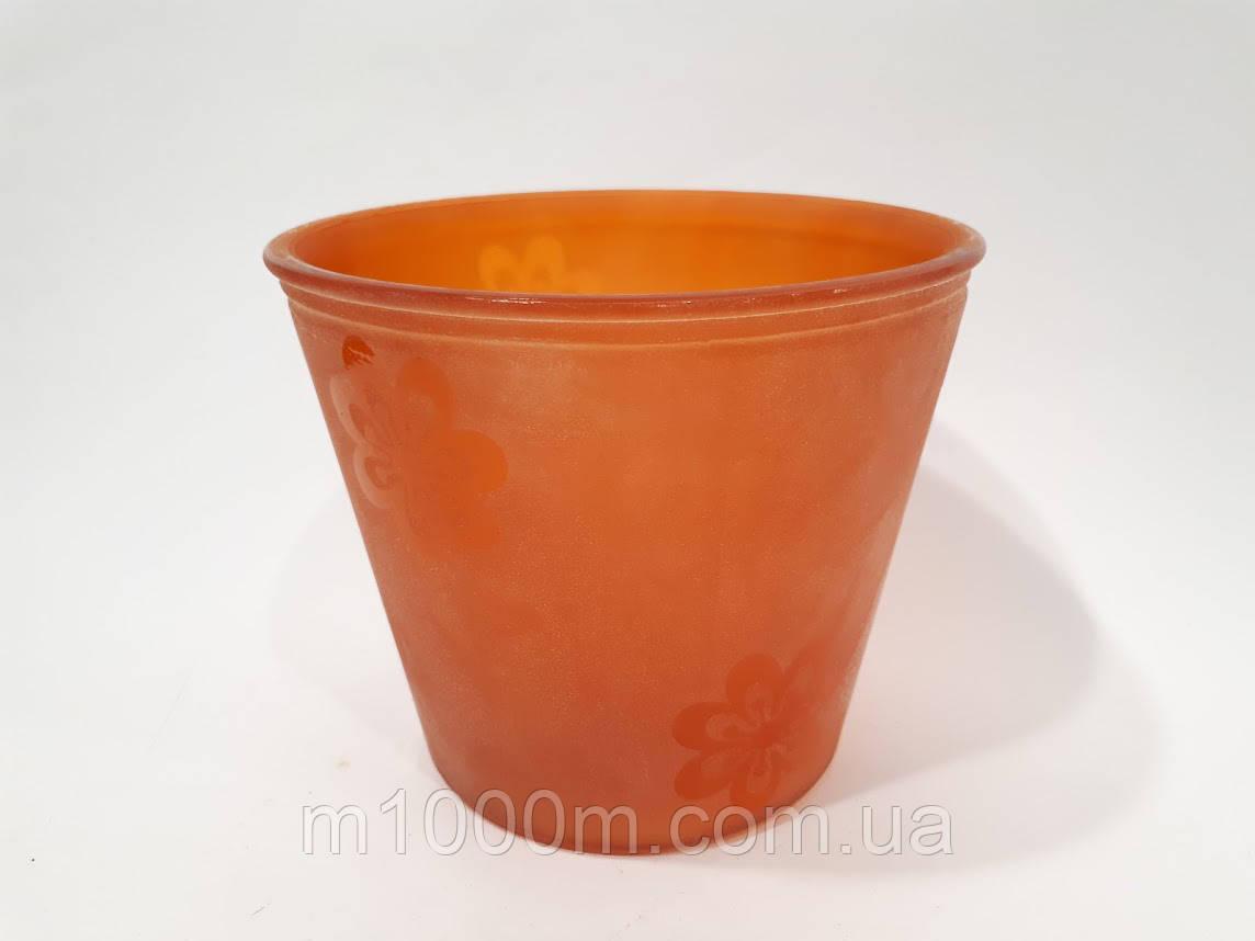 Горщик для орхідей скляний помаранчева До14.020.16 (1,15 л) Д 13,5 см