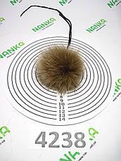 Меховой помпон Песец,Т. бежевый, 7 см, 4238, фото 3