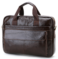 Мужской кожаный портфель  из натуральной кожи Cross Ox для документов, ноутбука, планшета