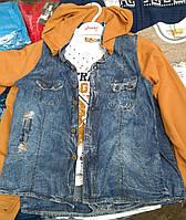 Набор из двух предметов для мальчика. Кофта с капюшоном + футболка. Цвета в ассортименте. Размер 9-12 лет