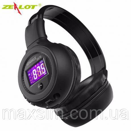 Беспроводные Bluetooth наушники ZEALOT B570 Складные Hi-Fi Стерео С ЖК-Экраном Fm-радио Micro-SD