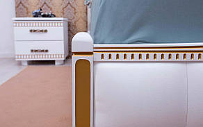 ✅ Деревянная кровать Прованс Мягкая спинка квадраты 120х190 см ТМ Аурель (Олимп), фото 2