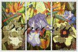Ткань с рисунком для вышивки бисером Цветы (триптих)