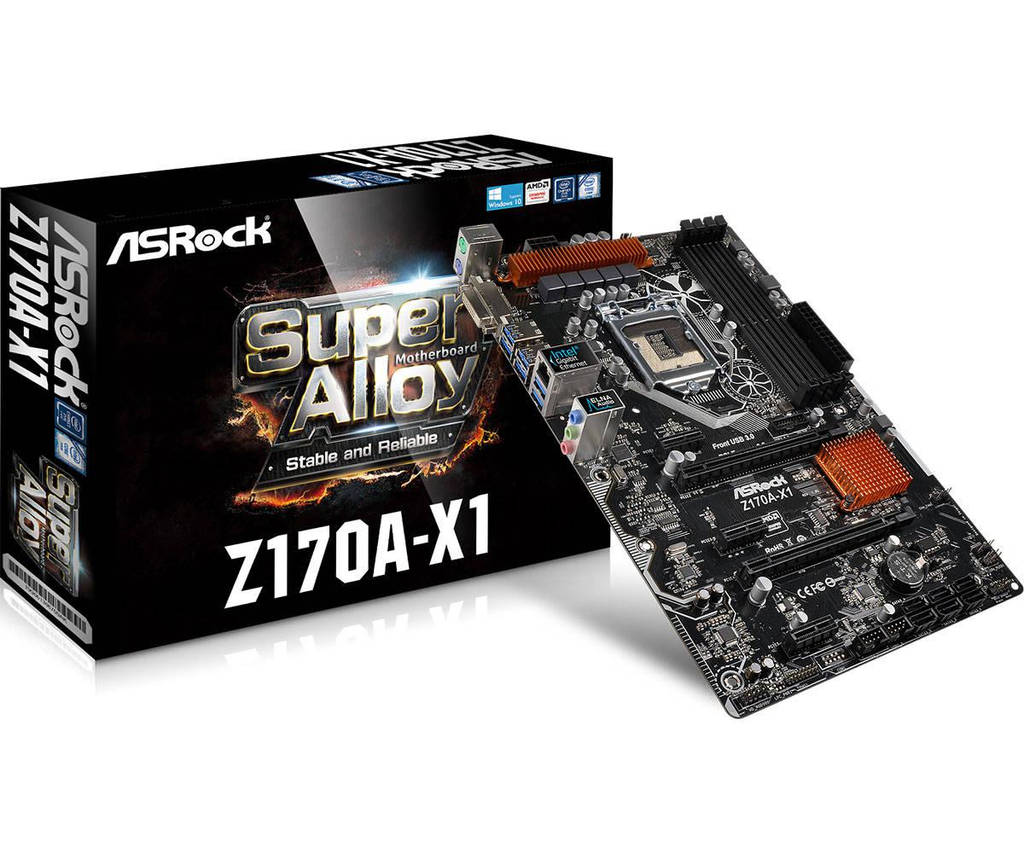 "Материнская плата ASRock Z170A-X1 s.1151 DDR4 ""Over-Stock"" Б/У"