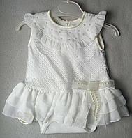 Нарядный боди с юбкой для новорожденных на девочек 6-9 месяцев