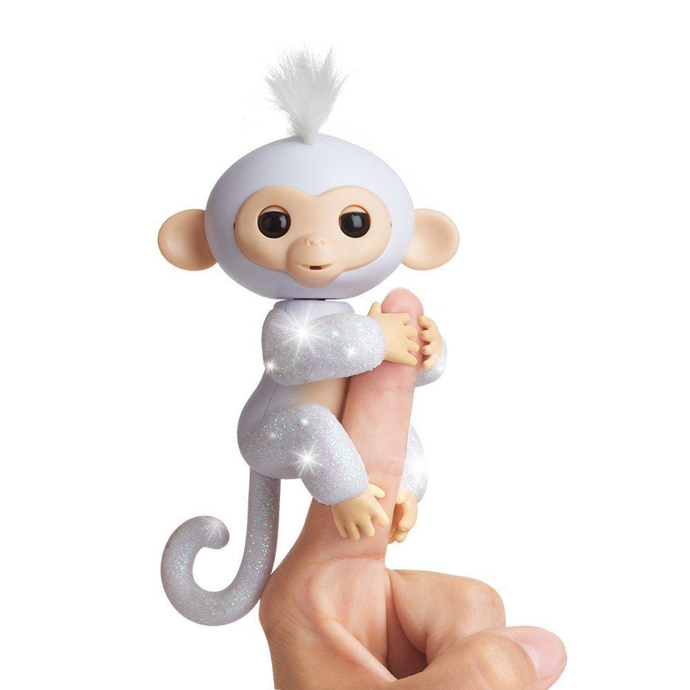 Оригинал обезьянка Блестящая - Сахарок фингерлинг  WowWee Fingerlings Glitter Monkey -Sugar