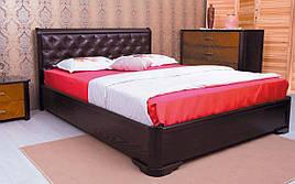 ✅ Дерев'яне ліжко Мілена М'яка спинка ромби 120х190 см ТМ Аурель (Олімп)