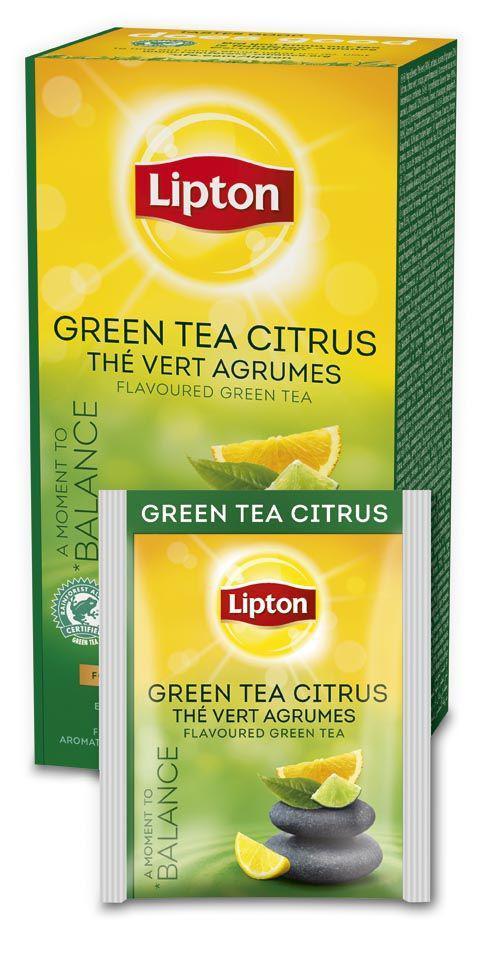 Чай Lipton Green Tea Tchae Citrus с цедрой цитрусовых в индивидуальной упаковке зеленый 25 пакетиков