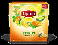 Чай Lipton Citrus Tea с цедрой цитрусовых в пирамидках Черный 20 пакетиков