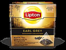 Чай Lipton Ear Grey с лепестками василька и календулы в пирамидках Черный 20 пакетиков
