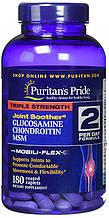 Хондропротектор Puritan's Pride Triple Strength Glucosamine Chondroitin MSM (180 таб) уцінка термін 10/20