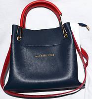 Женские сумки 2-в-1 эко кожа (синий+белый)24*328