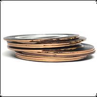 Лента для дизайна ногтей,бронза 1шт