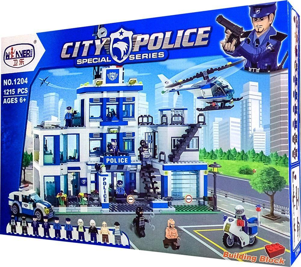 Конструктор Winner 1204 Полицейский участок 1215 деталей