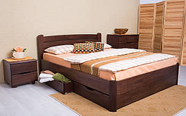 ✅ Дерев'яне ліжко Софія V з ящиками 120х190 см ТМ Аурель (Олімп)