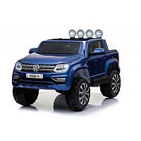 Детский электромобиль Volkswagen M 3600 EBLRS-4: 4x4, 7 км/ч, EVA, кожа - BLUE PAINT - купить оптом, фото 1