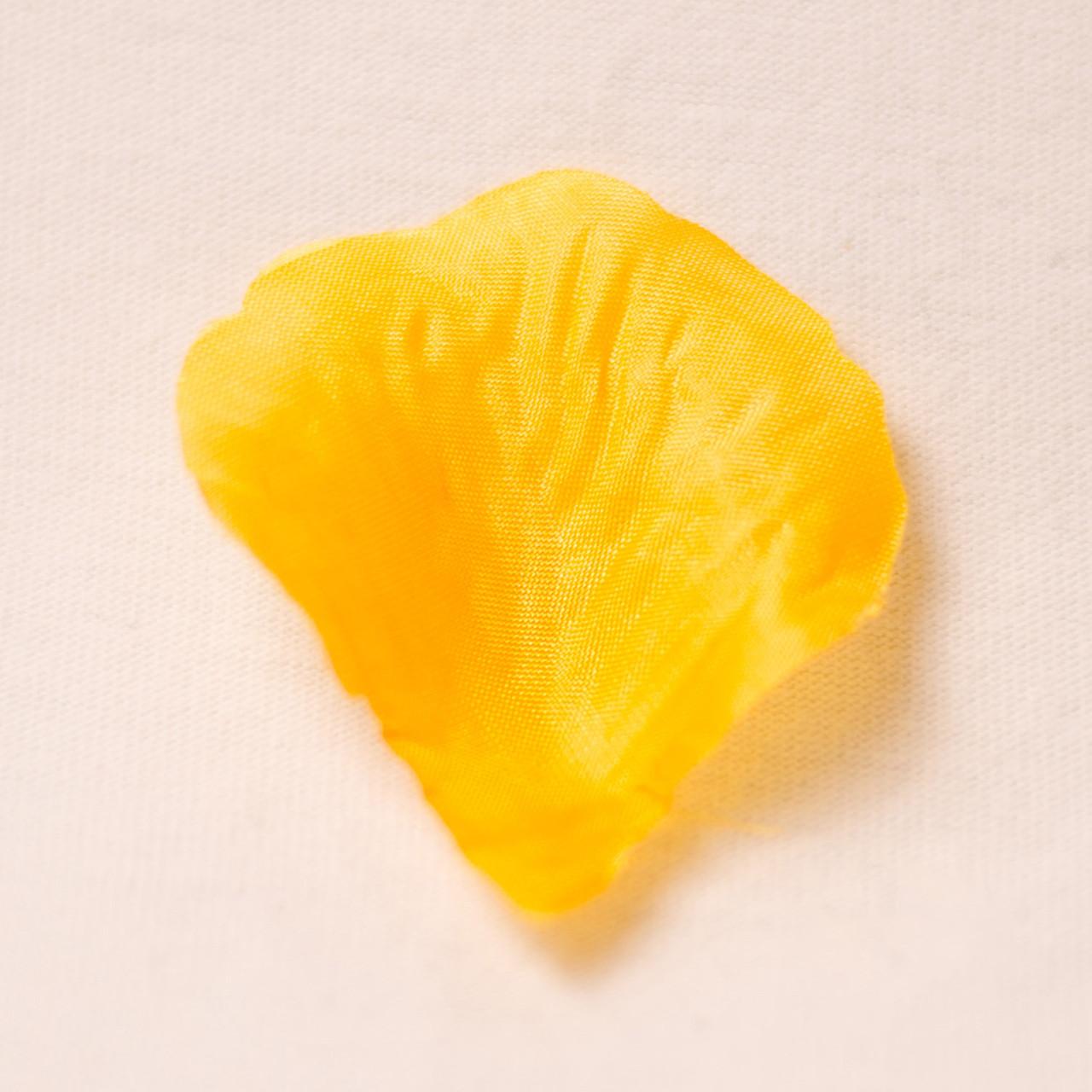Искусственные лепестки роз (желтый) №13