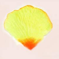 Искусственные лепестки роз (желто-оранжевый) №20