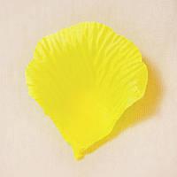 Искусственные лепестки роз (ярко-желтый) №19
