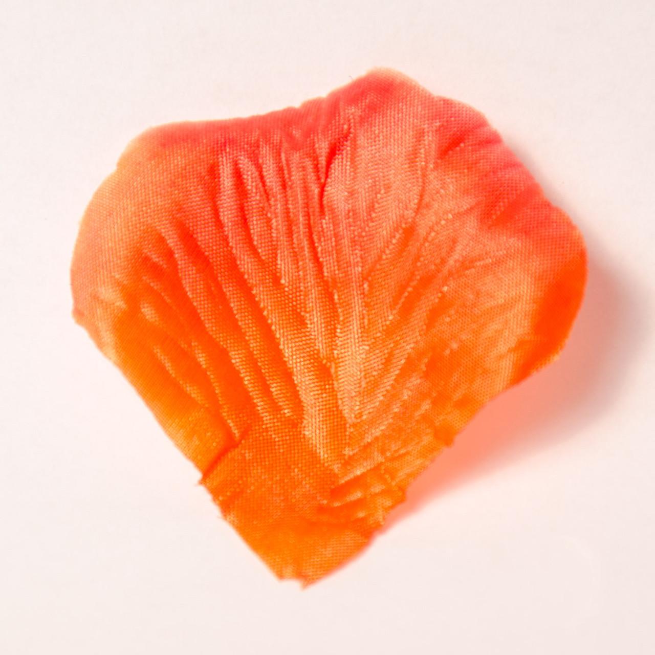Искусственные лепестки роз (красно-оранжевый) №15