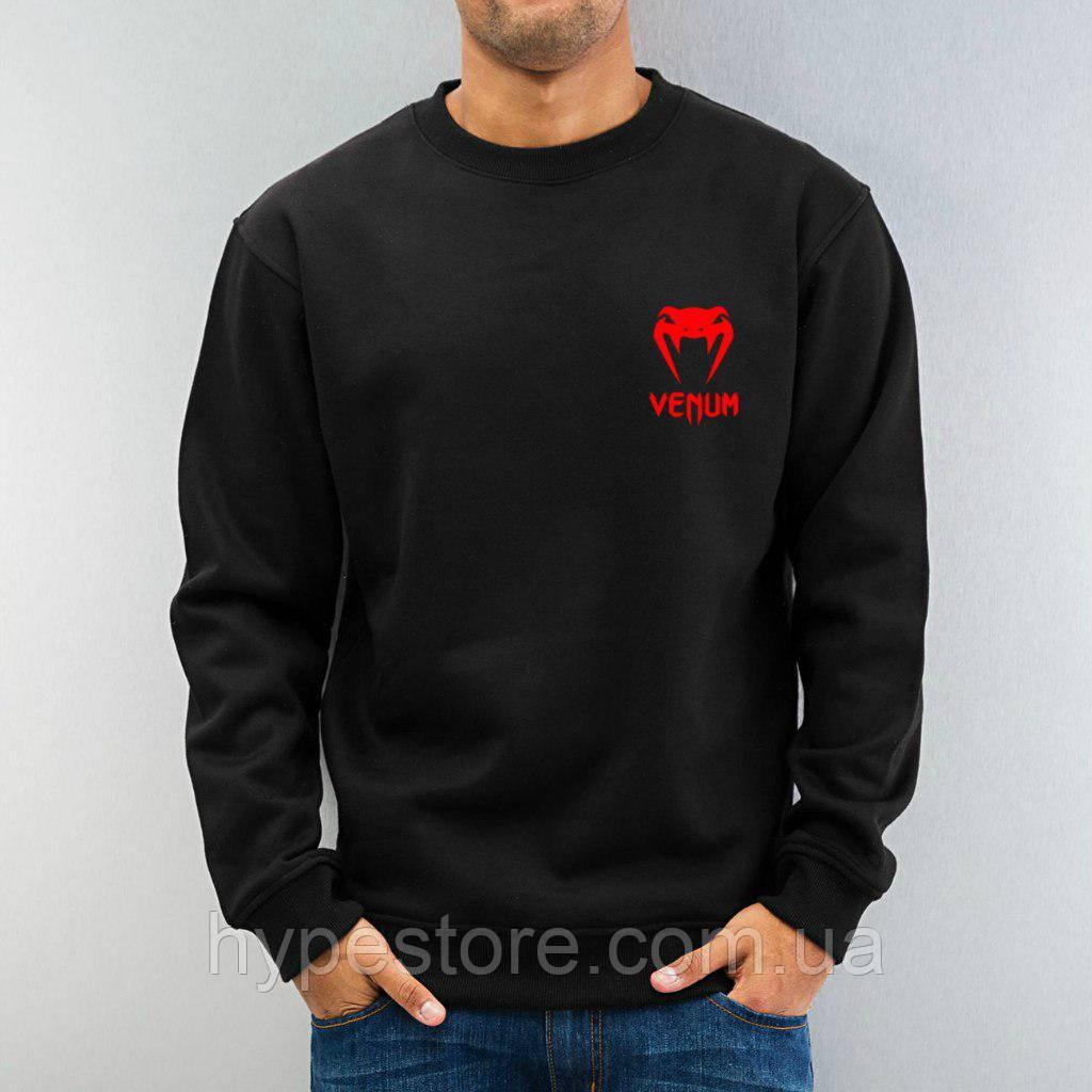Свитшот, кофта, реглан Venum, Венум (красный логотип), Реплика
