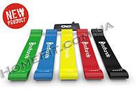Резинки для фитнеса, петли Mini Bands набор 5 шт + сумка чехол (лента, эспандер)