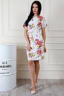 Красивое женское платье с поясом, фото 1
