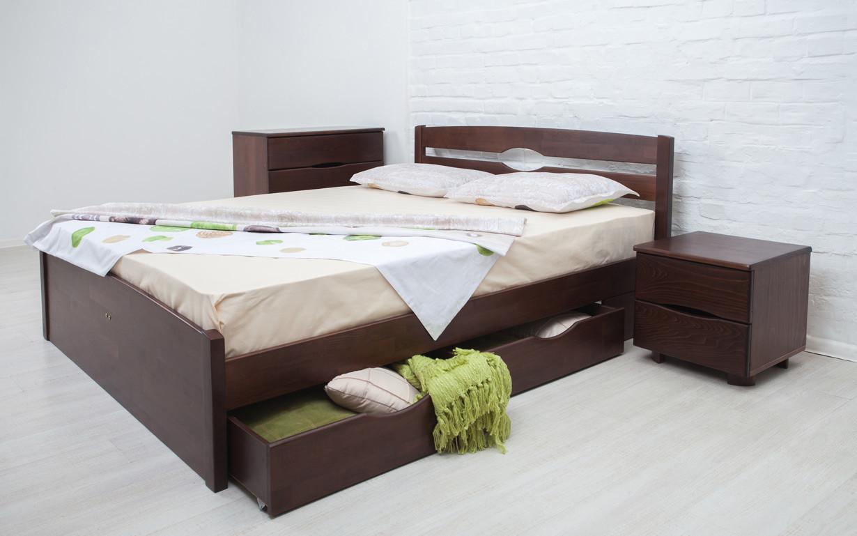 ✅ Деревянная кровать Лика Люкс с ящиками 80х190 см ТМ Аурель (Олимп)
