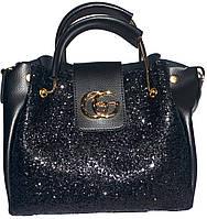 Женские сумки блестки и старзы (черный)28*32