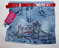 Джинсовая юбка  на девочку оптом Турция  5,6,7,8 лет