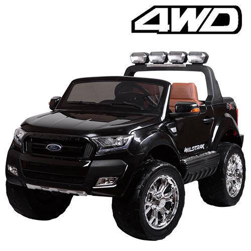 Детский электромобиль Ford Ranger M 3573 EBLR-2: 180W, 12V 14А, EVA, 2.4G, кожа - ЧЕРНЫЙ - купить оптом