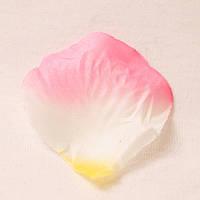 Искусственные лепестки роз (бело-желто-розовый) №30, фото 1
