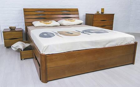 ✅ Деревянная кровать Марита Люкс с ящиками Олимп, фото 2