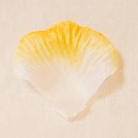 Искусственные лепестки роз (бело-желтый) №27