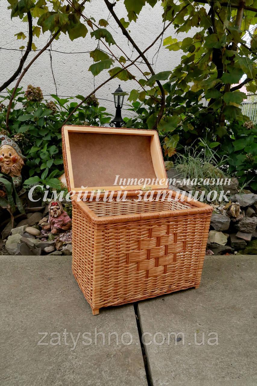 Сундук ящик из лозы плетеный натуральный