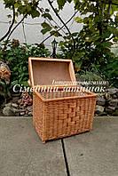 Сундук ящик из лозы плетеный натуральный, фото 1