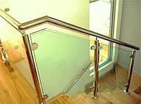 Перила ограждения из нержавейки со стеклом