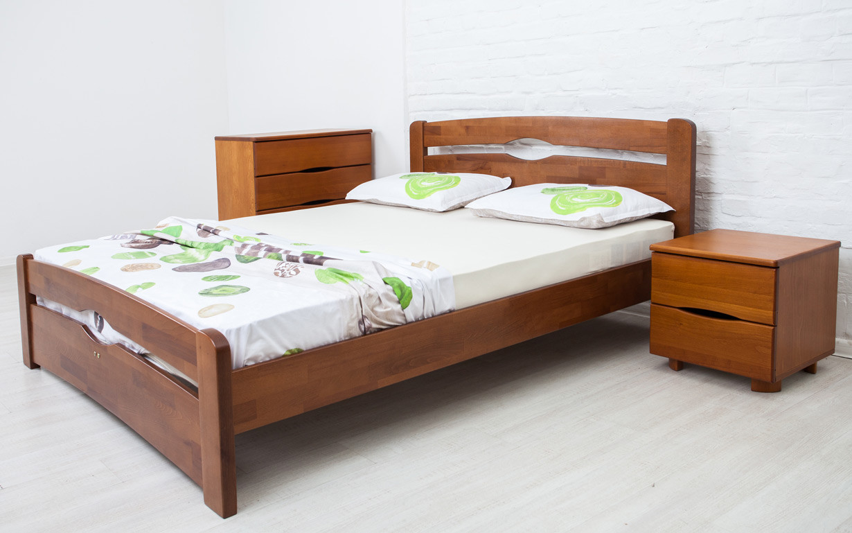 ✅ Деревянная кровать Нова с изножьем 80х190 см ТМ Аурель (Олимп)