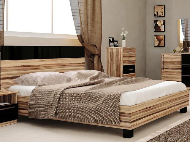 Ліжко з ДСП/МДФ в спальню Соната 1,6х2,0 підйомне з каркасом Миро-Марк